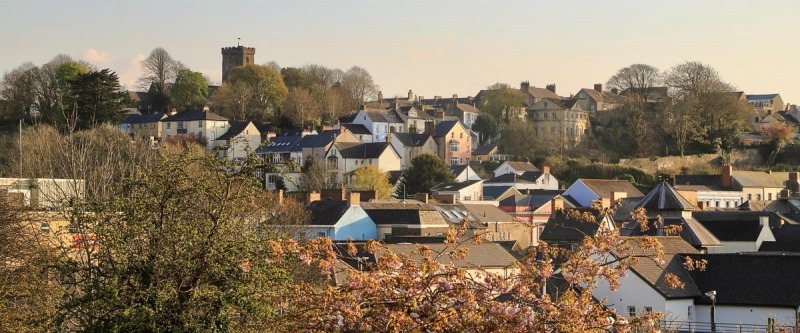 Across the Haverfordwest Rooftops